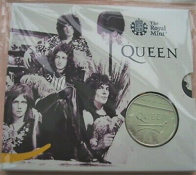 2020 Royal Mint Music Band Legend:-QUEEN BAND £5 uncirculated coin pack