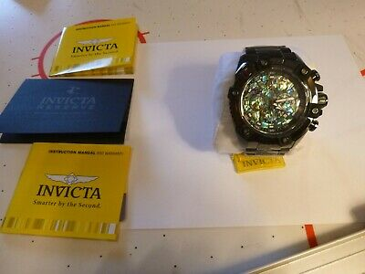 Invicta Reserve Grand Octane Abalone 63Mm Black Steel Swiss Mvt Watch