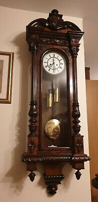 Antique Double Weight Vienna Wall Clock