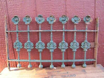 Antique Cast Iron Flowers Balls Ornate Window Gate Architectural Hardware #2