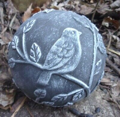 "Latex bird garden ball mold 4"" W x 3.75""H"