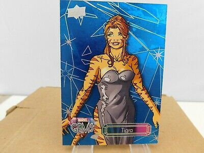 TIGRA #5 from 2016 Upper Deck Marvel Gems Sapphire Parallel SP 13/25