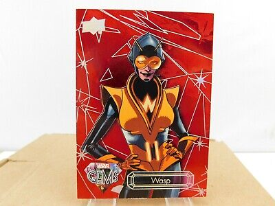 WASP #23 from 2016 Upper Deck Marvel Gems RUBY Parallel SP 92/99