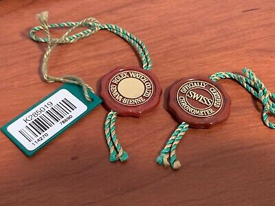 2 Rolex Hologram Red Seal Tag & 1 Rolex Oyster Swimpruf Green Tag for 114270