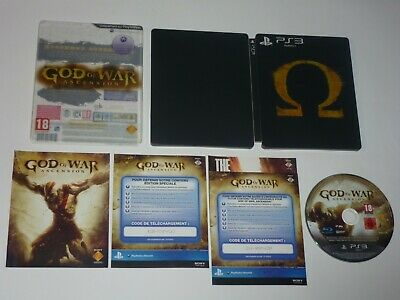 Jeu GOD OF WAR ASCENSION ÉDITION SPÉCIALE STEELBOOK Sony PS3 VF FRA Complet TBE