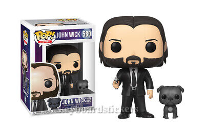 "Funko Pop! Movies John Wick "" Keanu Reeves "" w/Dog Vinyl Figure #580 - NEW"