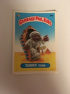 1985 Topps Garbage Pail Kids 36B Tommy Tomb Series 1 GLOSSY Very Good Condition