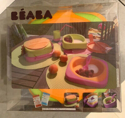Kids Beaba Soft Lunch Box Kit Sorbet Bento Baby Food Storage New