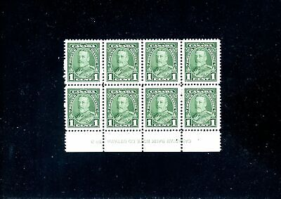 Lot 82201 Mint Nh 217 Plate 3 Block King George V Pictorial Issue Canada