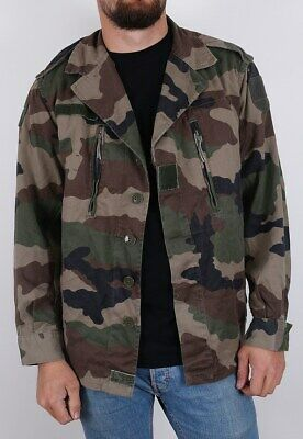 New Vintage French F2 camo jacket army military camouflage 1980s CCE woodland