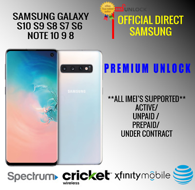 9 S9 S9 Factory Unlock Code for AT/&T ATT Samsung Galaxy S10 S10 Plus NOTE 10
