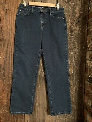 Ladies LEE Relaxed Fit at the Waist Denim Blue Jeans size 8 Short