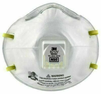 3M 8210V N95 Particulate Respirator with Valve Mask Made in USA