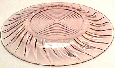 "*PETAL SWIRL PINK (1) 9"" Dinner Plate Depression Glass #6-B21-R"