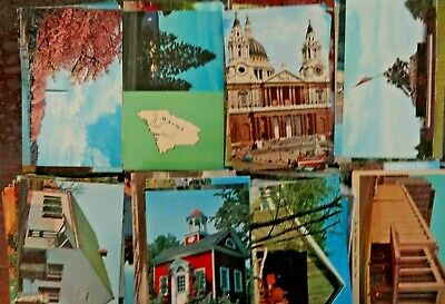 LOT OF 50 COMMON CHROME  POSTCARDS   * ALL USA . 1960s & 1970s ~ SALE ITEMS