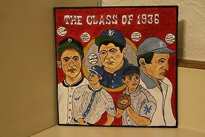 "Original hand painted Baseball Art ""The Class of 1936 ""Art by David Bowers"