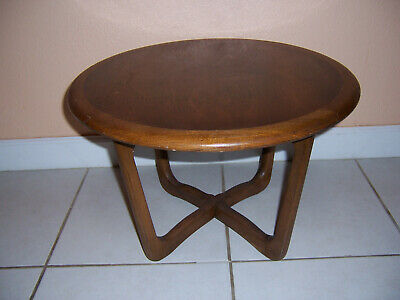 Vintage Lane Round End Table - Mid Century Modern