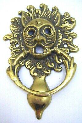 Small Vintage Brass Grotesque Gargoyle Door Knocker 'Durham Cathedral Sanctuary'