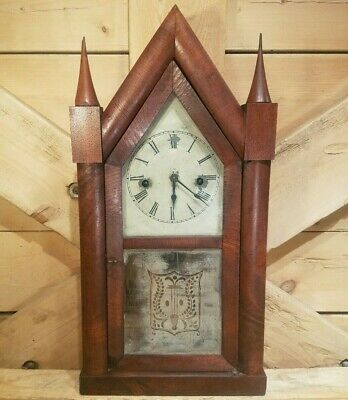 Antique Jerome & Co. Eight Day 30 Hr. Steeple New Haven Clock Works Swanky Barn