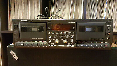 Tascam 302 Dual Cassette Deck Auto Reverse Professional Tape Recorder,AS IS