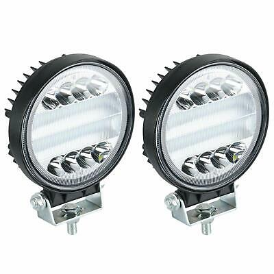 2x 5'' 144W Round Led Spot Flood Beam Work Light Bar for Offroad Driving Lights