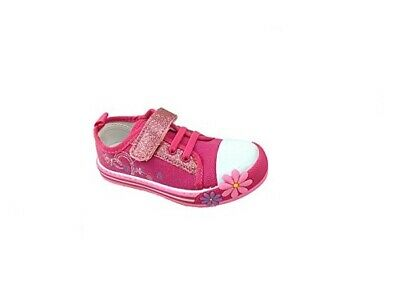 Chatterbox Girls Canvas Pump Infant Trainer Shoe Low Top Padded Summer Size 4