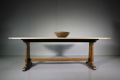 Edwardian Antique Oak Refectory Dining Table