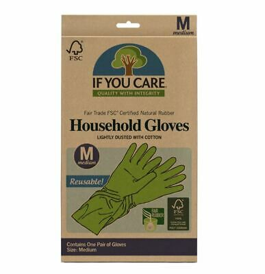If You Care FSC FT Rubber Gloves Medium (Pack of 12)