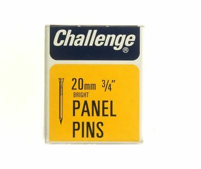 Frank Shaw Challenge Bright Panel Pins 20mm 50g Bright Steel Pins 3/4 Inch Pins