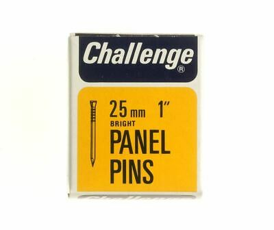 Frank Shaw Challenge Bright Panel Pins 25mm 50g Bright Steel Pins 1 Inch Pins