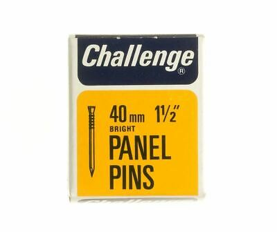 Frank Shaw Challenge Bright Panel Pins 40mm 40g Bright Steel Pins 1.5 Inch Pins
