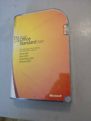 Microsoft office 2007 Standard. Word - Excel - Outlook - Powerpoint - Retail Box