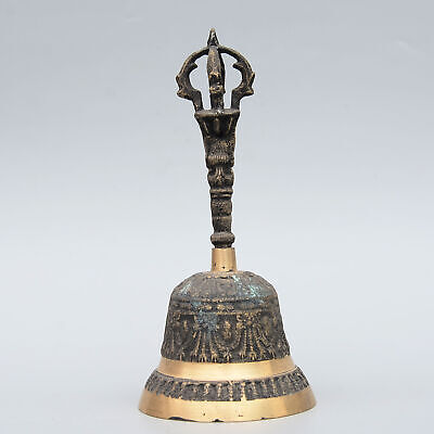 Collectable China Old Bronze Hand-Carved Delicate Exorcism Tools Decorate Statue