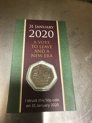 2020 Brexit SYO 50p Withdrawal from the European Union UK Strike Your Own Coin