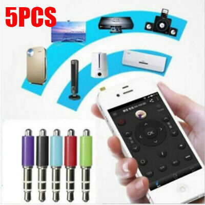 5PCS Universal 3.5mm Air Conditioner/TV/DVD/STB IR Remote Control For iPhone