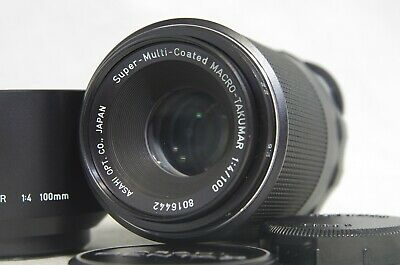 Pentax SMC Super-Multi-Coated Macro-Takumar 100mm F/4 M42 Lens SN8016442 *As-Is*