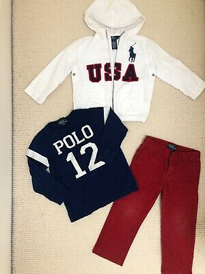 Polo Ralph Lauren Age 3, Jacket Top And Trousers