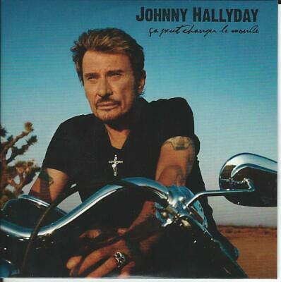 Cd promo Johnny Hallyday - Ca peut changer le monde (comme neuf)
