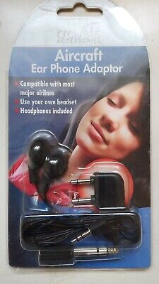 Aircraft / Aeroplane Earphones and Adaptor Brand New In Packet