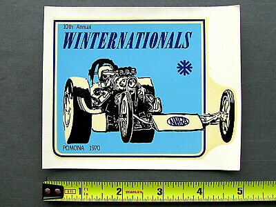 """1970 NHRA WINTERNATIONALS"" Vintage Original Water-Slide Racing Decal ** Pomona"