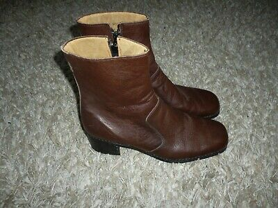 Vintage Mens Brown Leather Ankle Boots FHW (Freeman, Hardy & Willis ? )