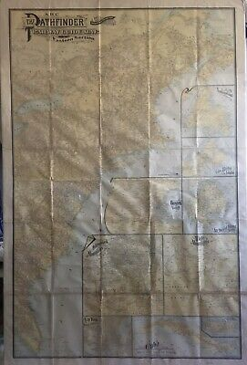 1901 ABC The Pathfinder Railway Guide Map Eastern Section