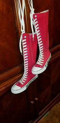 Justice Brand - Converse Chuck Taylor like Knee High Shoes Childs 5 Womans 7