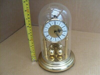 Kein Anniversary Clock Torsion Pendulum Ball Dome Brass Mantel Not Working
