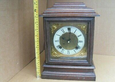 Vintage Ansonia Chiming Mantelpiece Clock Mantel Brass Movement Pendulum