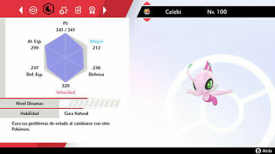 Pokemon shiny Celebi 6 ivs +ditto 6ivs de regalo Pokemon sword/shield