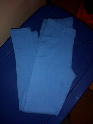 Girls Size 4-6 Juniors Blue Skinny Pants Pull On Style Combine Shipping