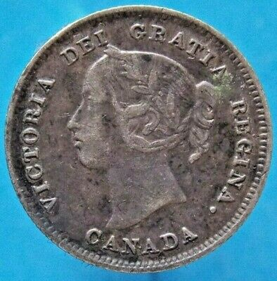 1897 Canada Canadian Silver 5 Cent Victoria Coin