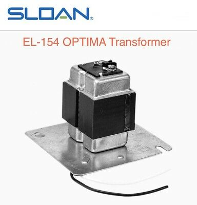 Sloan EL-154 Closet Urinal or Flush Valve Transformer 120VAC/24VAC #0345154PK
