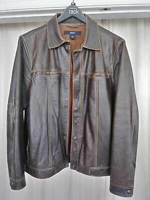 Gap mens leather jacket size small